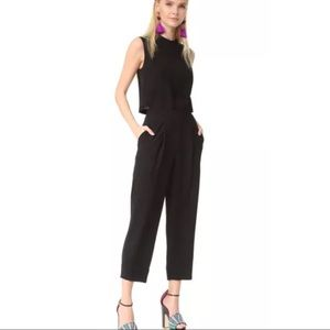$428 DVF Tali Black Minimalist Jumpsuit